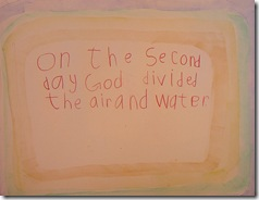 creation 2nd day sentence 3rd grader