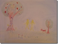 ot adam and eve drawing 3rd grader