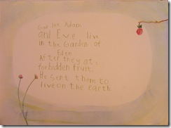 ot adam and eve sentence 3rd grader