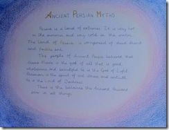 persian myths writing mom