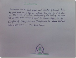zarathutra writing 5th grader