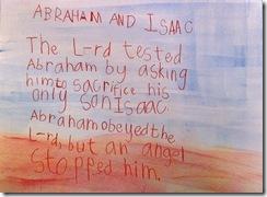 abraham and isaac sentence - 3rd grader