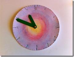 paper clock 3rd grader