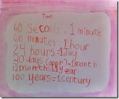 scale of time 3rd grader 1