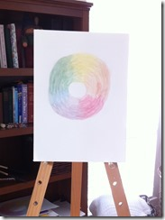 color wheel painting 6th grader