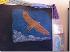 eagle chalk drawing