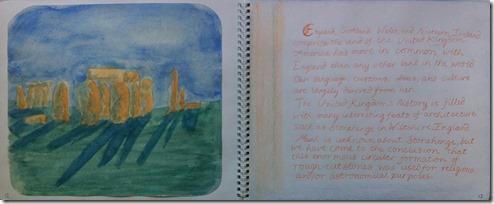 07 6th grader stonehendge painting